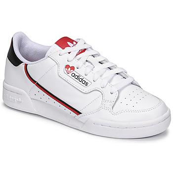 Zapatos Mujer Zapatillas bajas adidas Originals CONTINENTAL 80 Blanco / Rojo