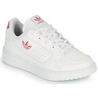 Zapatos Niños Zapatillas bajas adidas Originals NY 92 C Blanco / Rosa
