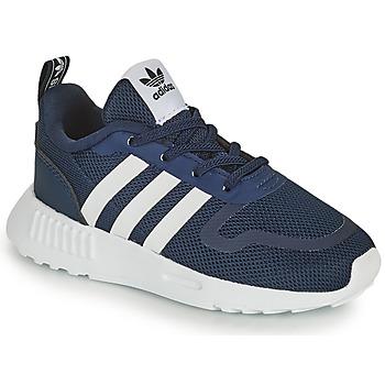 Zapatos Niños Zapatillas bajas adidas Originals SMOOTH RUNNER EL I Marino / Blanco
