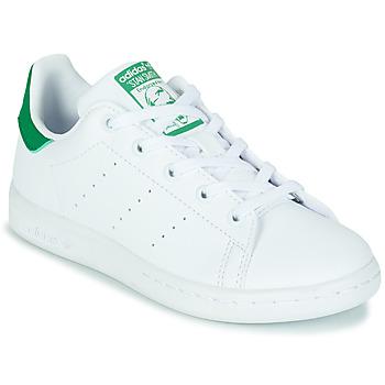 Zapatos Niños Zapatillas bajas adidas Originals STAN SMITH C SUSTAINABLE Blanco / Verde