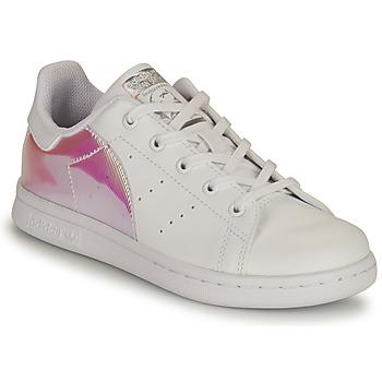 Zapatos Niña Zapatillas bajas adidas Originals STAN SMITH C SUSTAINABLE Blanco / Rosa / Iridescent