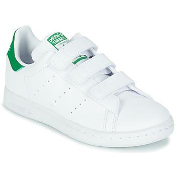 Zapatos Niños Zapatillas bajas adidas Originals STAN SMITH CF C SUSTAINABLE Blanco / Verde / Vegan