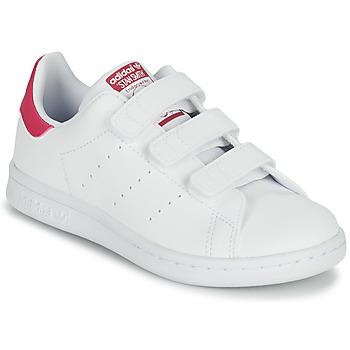 Zapatos Niña Zapatillas bajas adidas Originals STAN SMITH CF C SUSTAINABLE Blanco / Rosa