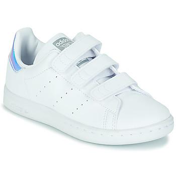 Zapatos Niña Zapatillas bajas adidas Originals STAN SMITH CF C SUSTAINABLE Blanco / Iridescent
