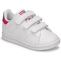 Zapatos Niña Zapatillas bajas adidas Originals STAN SMITH CF I SUSTAINABLE Blanco / Rosa