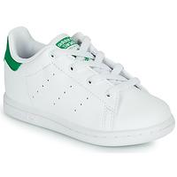 Zapatos Niños Zapatillas bajas adidas Originals STAN SMITH EL I SUSTAINABLE Blanco / Verde