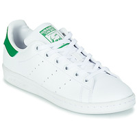 Zapatos Niños Zapatillas bajas adidas Originals STAN SMITH J SUSTAINABLE Blanco / Verde