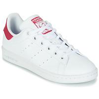 Zapatos Niña Zapatillas bajas adidas Originals STAN SMITH J SUSTAINABLE Blanco / Rosa
