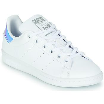 Zapatos Niña Zapatillas bajas adidas Originals STAN SMITH J SUSTAINABLE Blanco / Iridescent