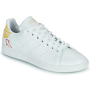 Zapatos Mujer Zapatillas bajas adidas Originals STAN SMITH W SUSTAINABLE Blanco / Multicolor