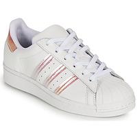 Zapatos Niña Zapatillas bajas adidas Originals SUPERSTAR J Blanco / Iridescent