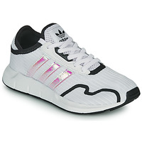 Zapatos Niña Zapatillas bajas adidas Originals SWIFT RUN X J Blanco / Iridescent