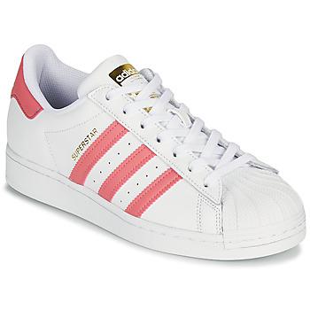 Zapatos Mujer Zapatillas bajas adidas Originals SUPERSTAR W Blanco / Rosa
