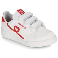 Zapatos Niña Zapatillas bajas adidas Originals CONTINENTAL 80 CF C Blanco / Rojo