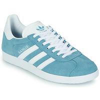 Zapatos Mujer Zapatillas bajas adidas Originals GAZELLE W Azul