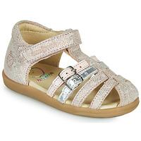 Zapatos Niña Sandalias Shoo Pom PIKA SPART Beige / Plata