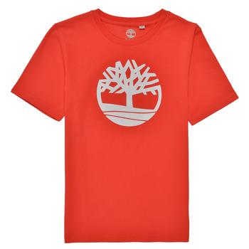 textil Niño Camisetas manga corta Timberland LOLLA Rojo