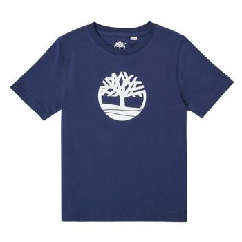 textil Niño Camisetas manga corta Timberland TRISTA Azul