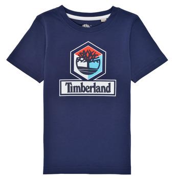 textil Niño Camisetas manga corta Timberland GRISS Marino