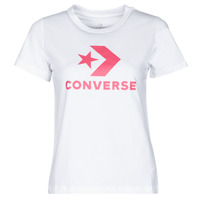 textil Mujer Camisetas manga corta Converse STAR CHEVRON CENTER FRONT TEE Blanco