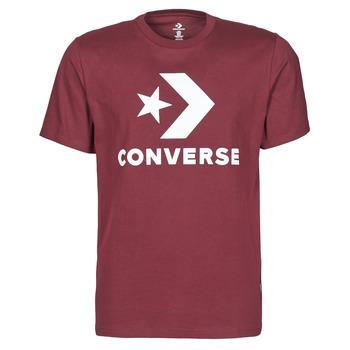textil Hombre Camisetas manga corta Converse STAR CHEVRON TEE Burdeo
