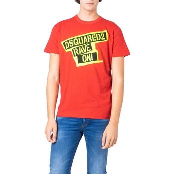 textil Hombre Camisetas manga corta Dsquared S74GD0593 Rosso