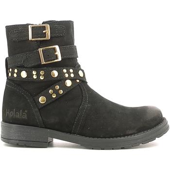 Zapatos Niños Botas de caña baja Holalà HL120008L Negro