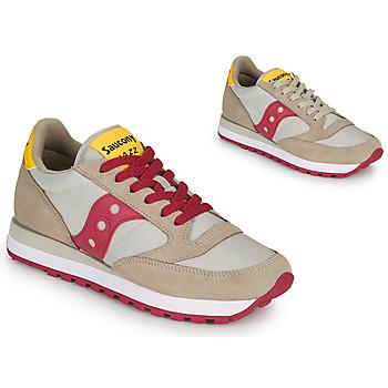 Zapatos Mujer Zapatillas bajas Saucony JAZZ ORIGINAL Beige / Rojo