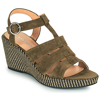 Zapatos Mujer Sandalias Adige FLORY V5 VELOURS MILITAIRE Kaki