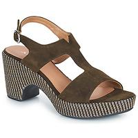 Zapatos Mujer Sandalias Adige ROMA V5 VELOURS MILITAR Kaki