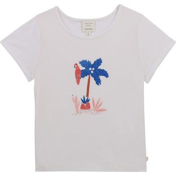 textil Niña Camisetas manga corta Carrément Beau Y15383-10B Blanco