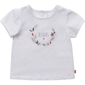 textil Niña Camisetas manga corta Carrément Beau Y95270-10B Blanco