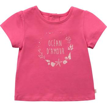 textil Niña Camisetas manga corta Carrément Beau Y95270-46C Rosa