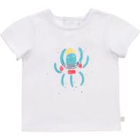 textil Niño Camisetas manga corta Carrément Beau Y95275-10B Blanco
