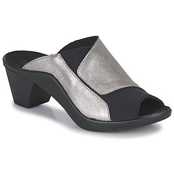 Zapatos Mujer Zuecos (Mules) Romika Westland ST TROPEZ 244 Negro / Oro