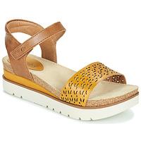 Zapatos Mujer Sandalias Josef Seibel CLEA 09 Marrón / Amarillo