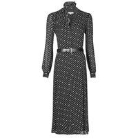 textil Mujer Vestidos largos MICHAEL Michael Kors CIRCLE LOGO SHRT DRS Negro / Blanco