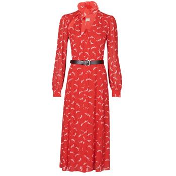 textil Mujer Vestidos largos MICHAEL Michael Kors SIGNTRE LOGO SHRT DRS Rojo