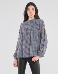 textil Mujer Tops / Blusas MICHAEL Michael Kors MINI FLORAL LS TOP Marino