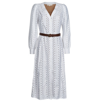 textil Mujer Vestidos largos MICHAEL Michael Kors ROPE STRIPES HEMP DS Blanco
