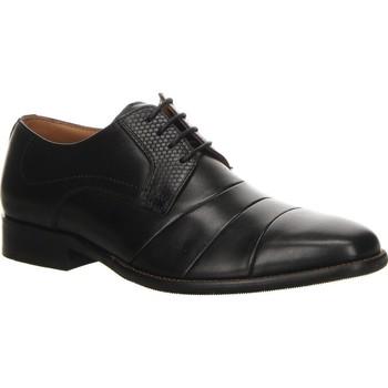 Zapatos Hombre Derbie Salamander Pisos Henley Black