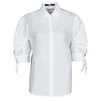 textil Mujer Camisas Karl Lagerfeld LINENSHIRTW/BOWS Blanco