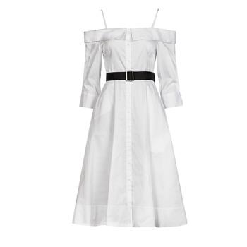 textil Mujer Vestidos largos Karl Lagerfeld COLDSHOULDERSHIRTDRESS Blanco