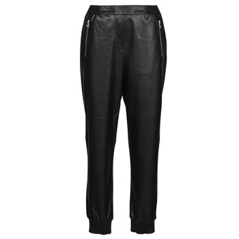 textil Mujer Pantalones con 5 bolsillos Karl Lagerfeld FAUXLEATHERJOGGERS Negro