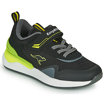 Zapatos Niño Zapatillas bajas Kangaroos KD-GYM EV Negro / Amarillo