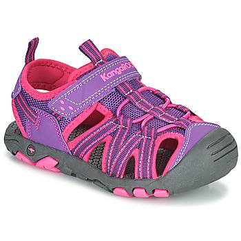 Zapatos Niña Sandalias Kangaroos K-ROAM Rosa / Gris
