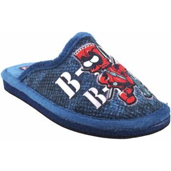 Zapatos Niño Pantuflas Gema Garcia Ir por casa niño  2304-15 azul Rojo