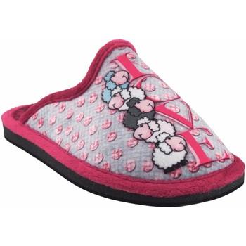 Zapatos Niña Pantuflas Gema Garcia Ir por casa niña  2304-8 malva Gris