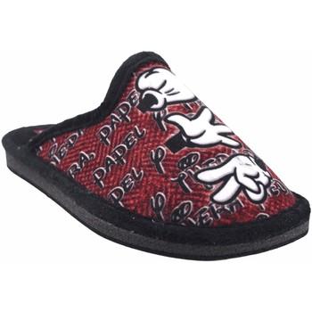 Zapatos Niño Pantuflas Gema Garcia Ir por casa niño  2304-14 ne.roj Rojo