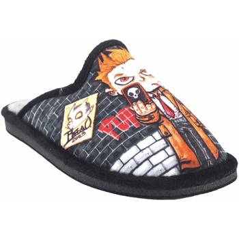 Zapatos Niño Pantuflas Gema Garcia Ir por casa niño  2301-6 negro Negro